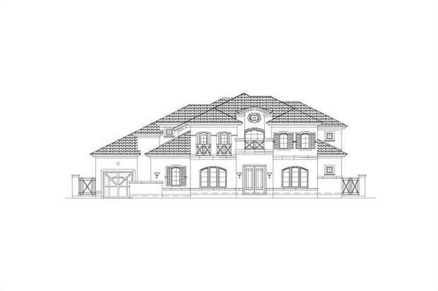 5-Bedroom, 5144 Sq Ft Luxury Home Plan - 156-1193 - Main Exterior
