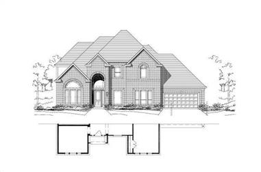5-Bedroom, 4525 Sq Ft Luxury House Plan - 156-1197 - Front Exterior