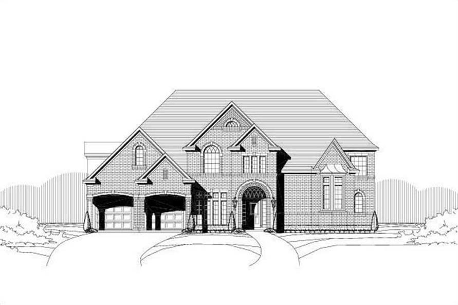 5-Bedroom, 5289 Sq Ft Luxury House Plan - 156-1198 - Front Exterior