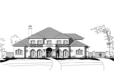 5-Bedroom, 5673 Sq Ft Luxury House Plan - 156-1199 - Front Exterior