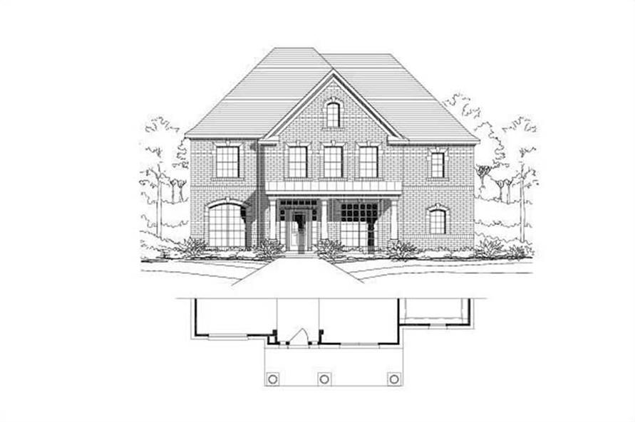4-Bedroom, 3032 Sq Ft Traditional Home Plan - 156-1201 - Main Exterior