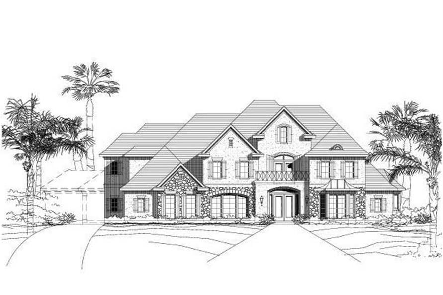 4-Bedroom, 5446 Sq Ft Country House Plan - 156-1204 - Front Exterior