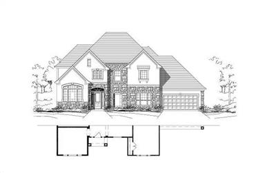 4-Bedroom, 4525 Sq Ft Luxury House Plan - 156-1205 - Front Exterior