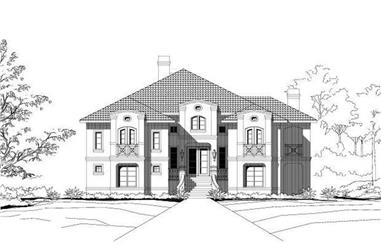 4-Bedroom, 5191 Sq Ft Luxury Home Plan - 156-1206 - Main Exterior