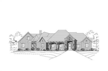 4-Bedroom, 3396 Sq Ft Luxury Home Plan - 156-1208 - Main Exterior
