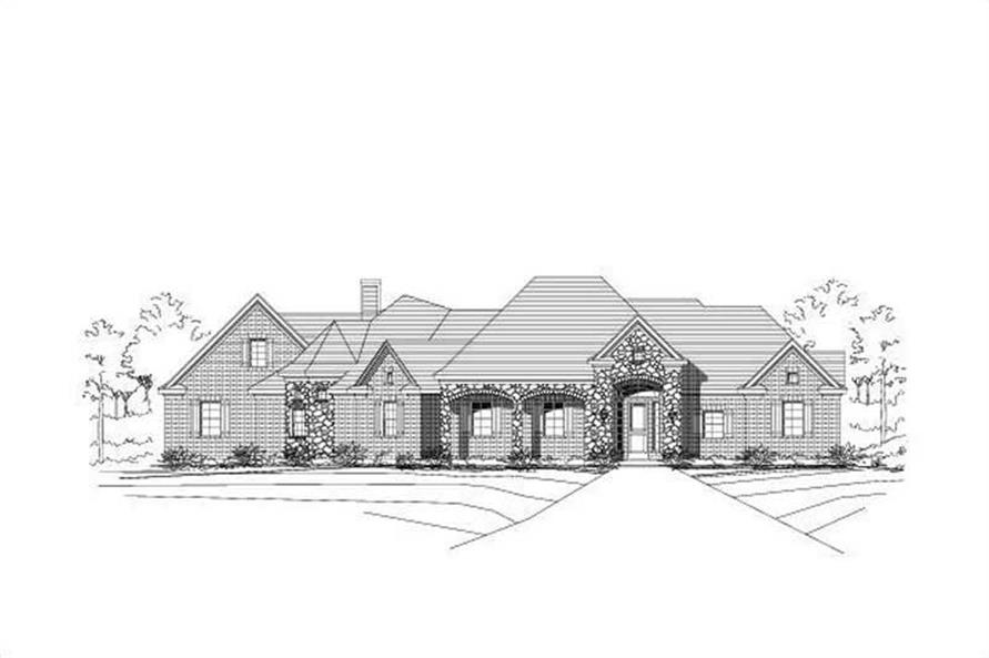 4-Bedroom, 3396 Sq Ft Luxury Home Plan - 156-1208 - Main Exterior