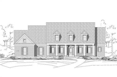 4-Bedroom, 4212 Sq Ft Luxury House Plan - 156-1209 - Front Exterior