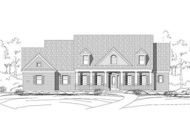 4-Bedroom, 4212 Sq Ft Luxury House Plan - 156-1211 - Front Exterior