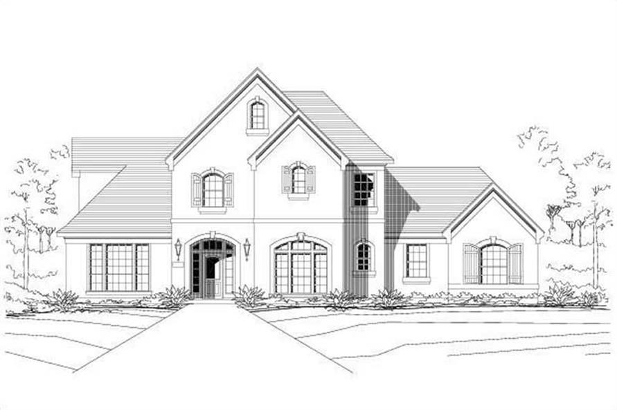 4-Bedroom, 3295 Sq Ft Country Home Plan - 156-1213 - Main Exterior