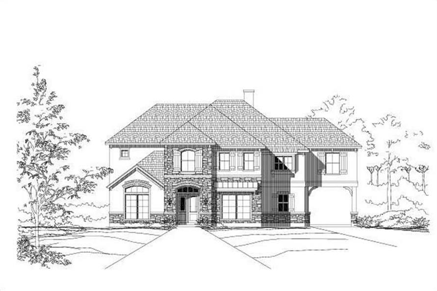 5-Bedroom, 4969 Sq Ft Country House Plan - 156-1214 - Front Exterior