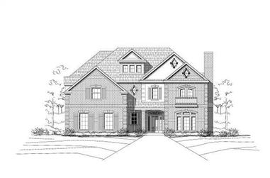 4-Bedroom, 4235 Sq Ft Luxury House Plan - 156-1215 - Front Exterior