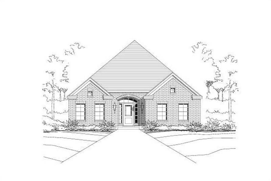 3-Bedroom, 1804 Sq Ft Ranch House Plan - 156-1218 - Front Exterior