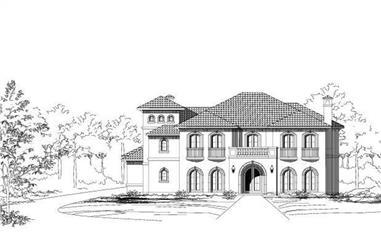 4-Bedroom, 5517 Sq Ft Mediterranean Home Plan - 156-1224 - Main Exterior