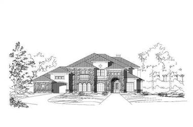 5-Bedroom, 4540 Sq Ft Spanish House Plan - 156-1225 - Front Exterior