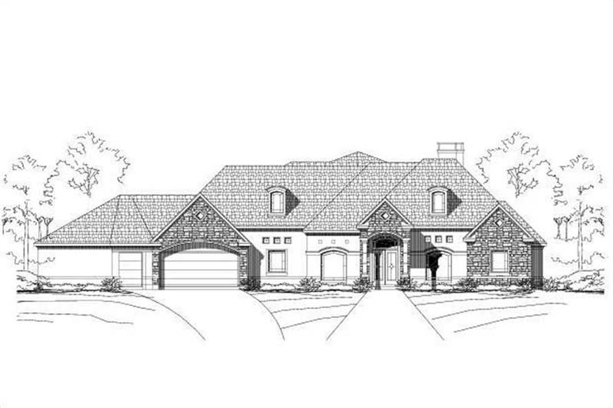 4-Bedroom, 4677 Sq Ft Luxury House Plan - 156-1226 - Front Exterior