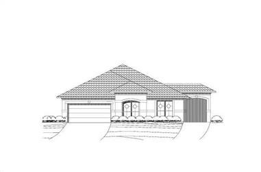 3-Bedroom, 2063 Sq Ft Mediterranean House Plan - 156-1227 - Front Exterior