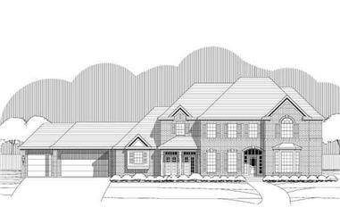 5-Bedroom, 5318 Sq Ft Luxury House Plan - 156-1228 - Front Exterior