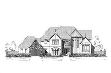 4-Bedroom, 5592 Sq Ft Luxury House Plan - 156-1229 - Front Exterior