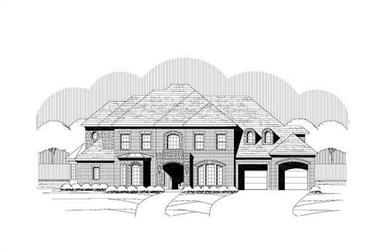 4-Bedroom, 4605 Sq Ft Luxury House Plan - 156-1230 - Front Exterior