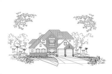 5-Bedroom, 4743 Sq Ft Country House Plan - 156-1231 - Front Exterior