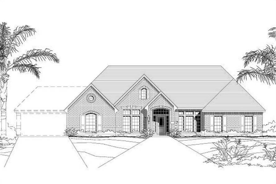 4-Bedroom, 3311 Sq Ft Luxury House Plan - 156-1234 - Front Exterior
