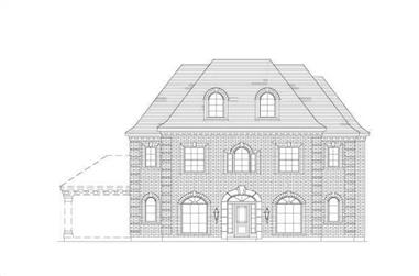 5-Bedroom, 3770 Sq Ft Luxury House Plan - 156-1235 - Front Exterior