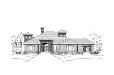 3-Bedroom, 3255 Sq Ft Southwest House Plan - 156-1236 - Front Exterior