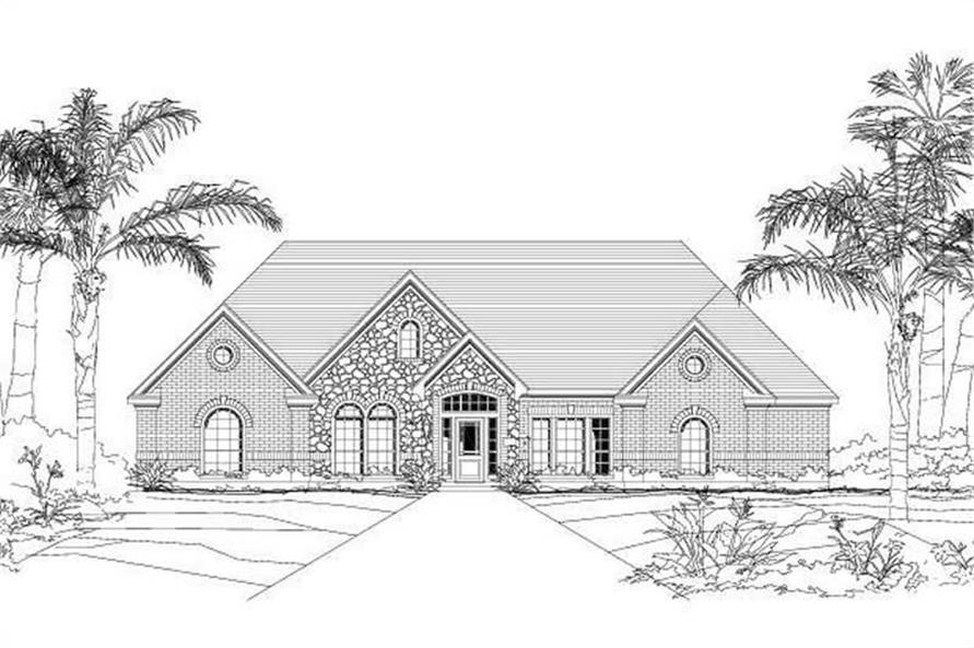 4-Bedroom, 3311 Sq Ft Luxury Home Plan - 156-1238 - Main Exterior