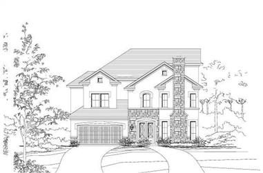 3-Bedroom, 3610 Sq Ft Luxury Home Plan - 156-1241 - Main Exterior