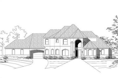 4-Bedroom, 3854 Sq Ft Luxury House Plan - 156-1243 - Front Exterior