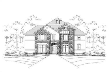 4-Bedroom, 3923 Sq Ft Luxury Home Plan - 156-1247 - Main Exterior