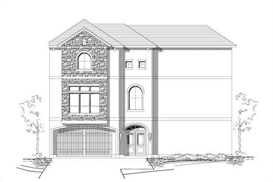 3-Bedroom, 2283 Sq Ft Traditional House Plan - 156-1249 - Front Exterior