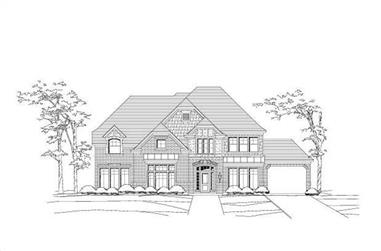 5-Bedroom, 4504 Sq Ft Luxury House Plan - 156-1250 - Front Exterior