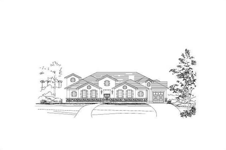 4-Bedroom, 4237 Sq Ft In-Law Suite House Plan - 156-1251 - Front Exterior