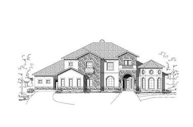 5-Bedroom, 4505 Sq Ft Home Plan - 156-1252 - Main Exterior