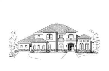 5-Bedroom, 4505 Sq Ft Mediterranean Home Plan - 156-1253 - Main Exterior