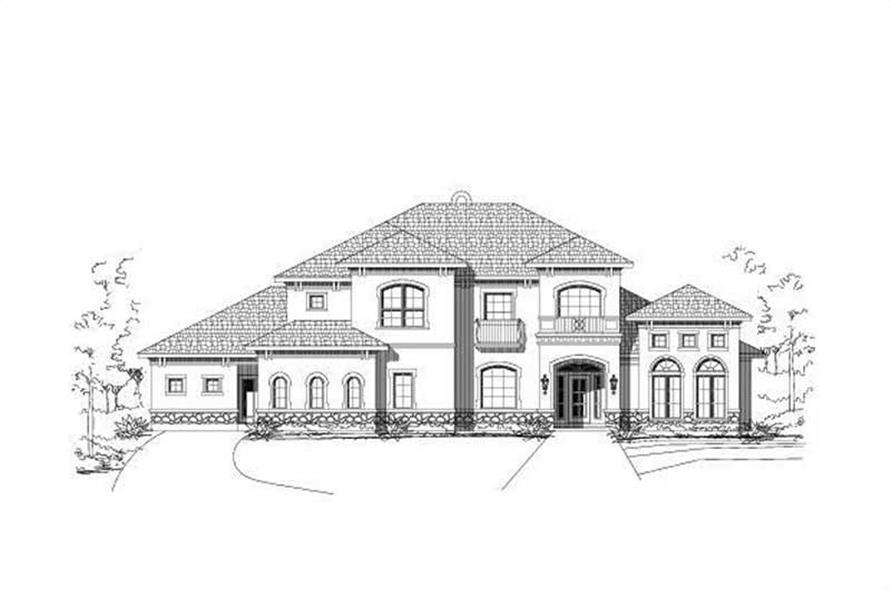 5-Bedroom, 4505 Sq Ft Mediterranean Home Plan - 156-1253 - Main Exterior