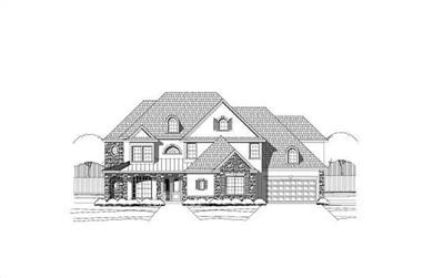 4-Bedroom, 4572 Sq Ft Luxury Home Plan - 156-1254 - Main Exterior