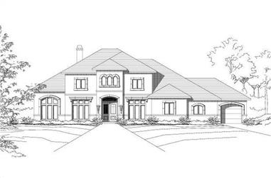 4-Bedroom, 4548 Sq Ft Mediterranean Home Plan - 156-1255 - Main Exterior