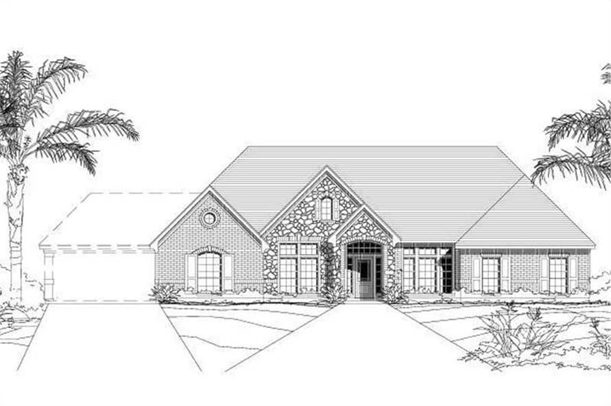 4-Bedroom, 3311 Sq Ft Luxury House Plan - 156-1257 - Front Exterior