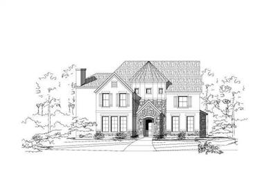 4-Bedroom, 4526 Sq Ft Luxury House Plan - 156-1260 - Front Exterior