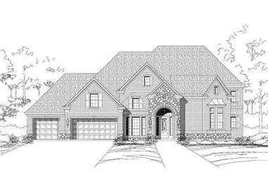 5-Bedroom, 4600 Sq Ft Luxury House Plan - 156-1261 - Front Exterior
