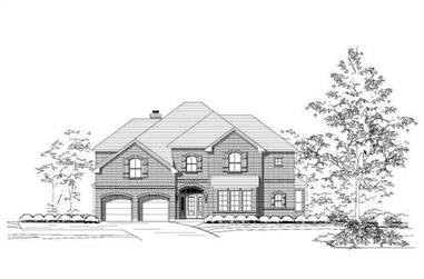 5-Bedroom, 4536 Sq Ft Luxury House Plan - 156-1263 - Front Exterior