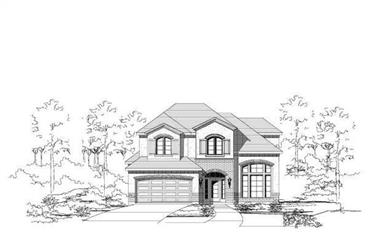 3-Bedroom, 2592 Sq Ft Country Home Plan - 156-1266 - Main Exterior