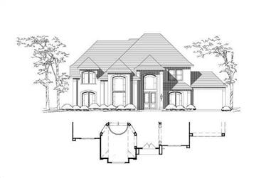 5-Bedroom, 4504 Sq Ft Luxury Home Plan - 156-1267 - Main Exterior