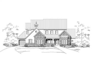 4-Bedroom, 4595 Sq Ft Southwest Home Plan - 156-1270 - Main Exterior