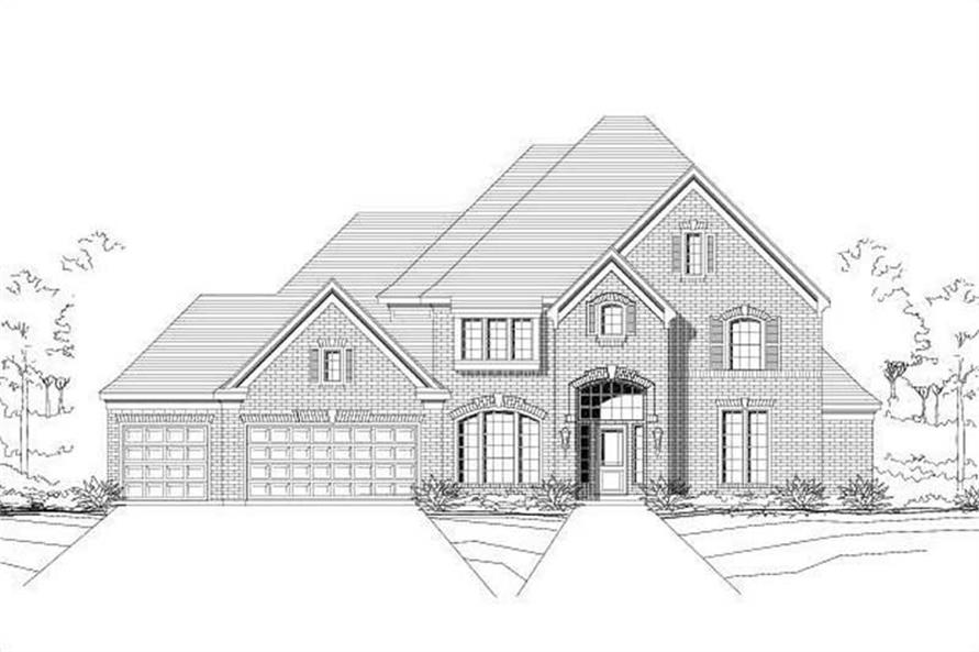 6-Bedroom, 4229 Sq Ft Luxury House Plan - 156-1271 - Front Exterior