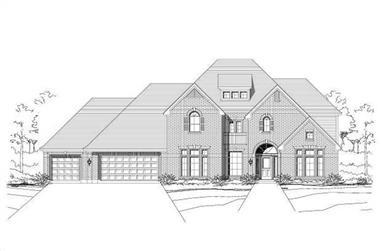 6-Bedroom, 5025 Sq Ft Luxury Home Plan - 156-1272 - Main Exterior
