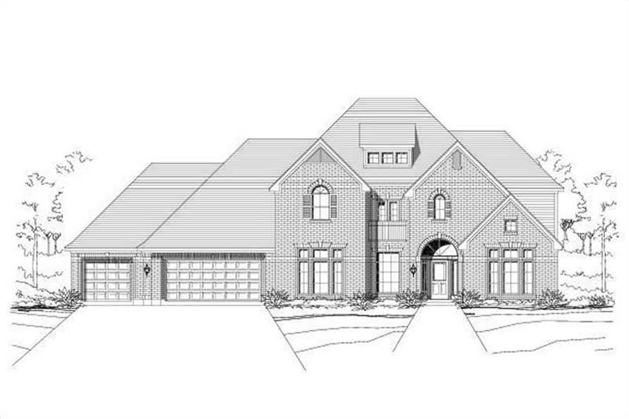 6-Bedroom, 5025 Sq Ft Luxury Home Plan - 156-1272 - Main Exterior