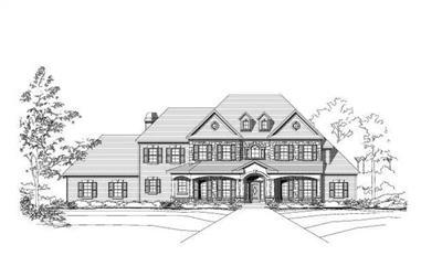 3-Bedroom, 4387 Sq Ft Luxury Home Plan - 156-1277 - Main Exterior